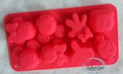Disney MICKEY MOUSE SILICONE Mold Chocolate ICE Mould jello