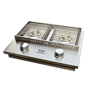 Broil chef LP/NG Side By Side Double Burner Gas Grill at Bbqtek.com