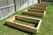Raised garden boxes in multiple sizes